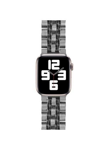 Wiwu Apple Watch 42mm Seven Beads Steel Belt Metal Kordon Gümüş